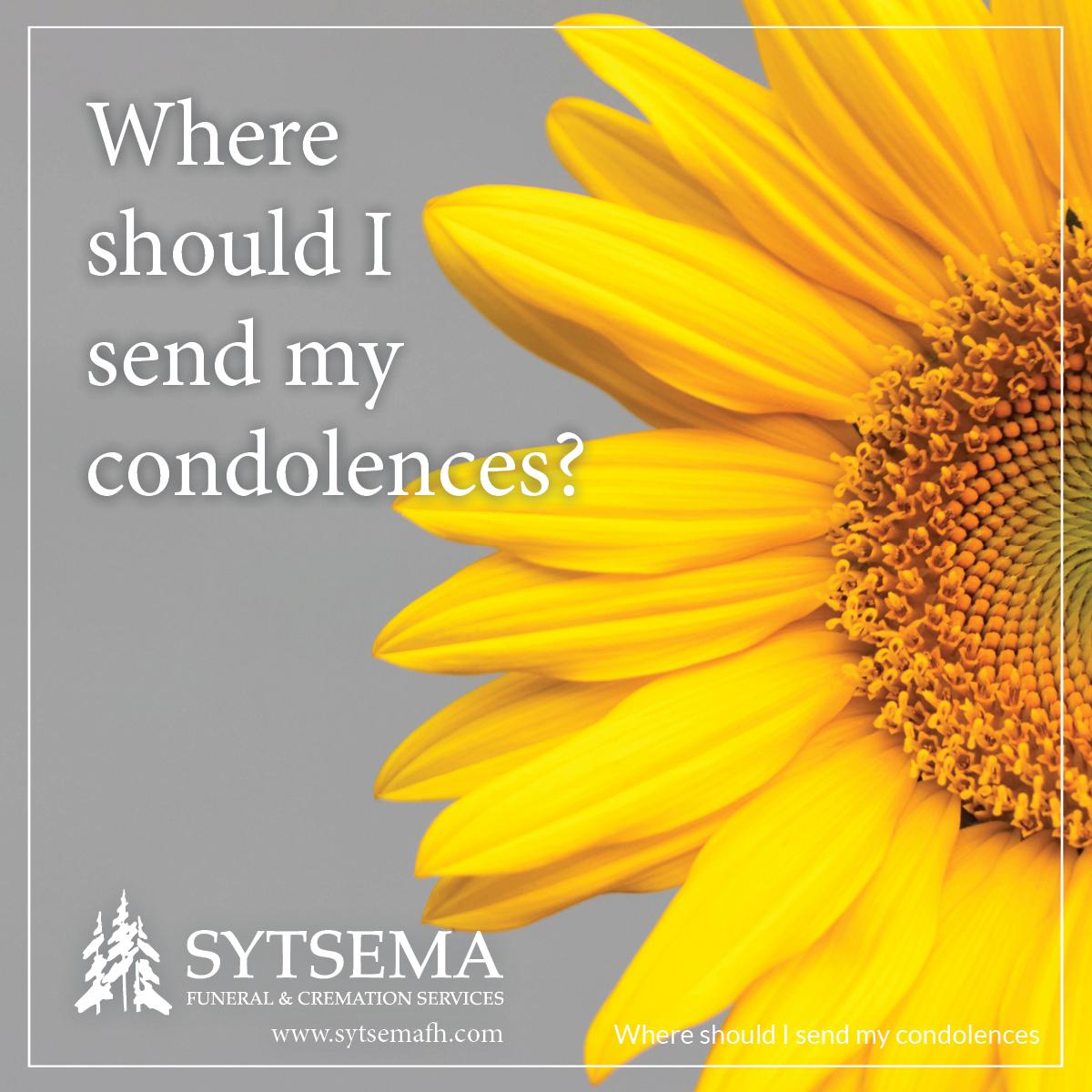 Where should I send my condolences?